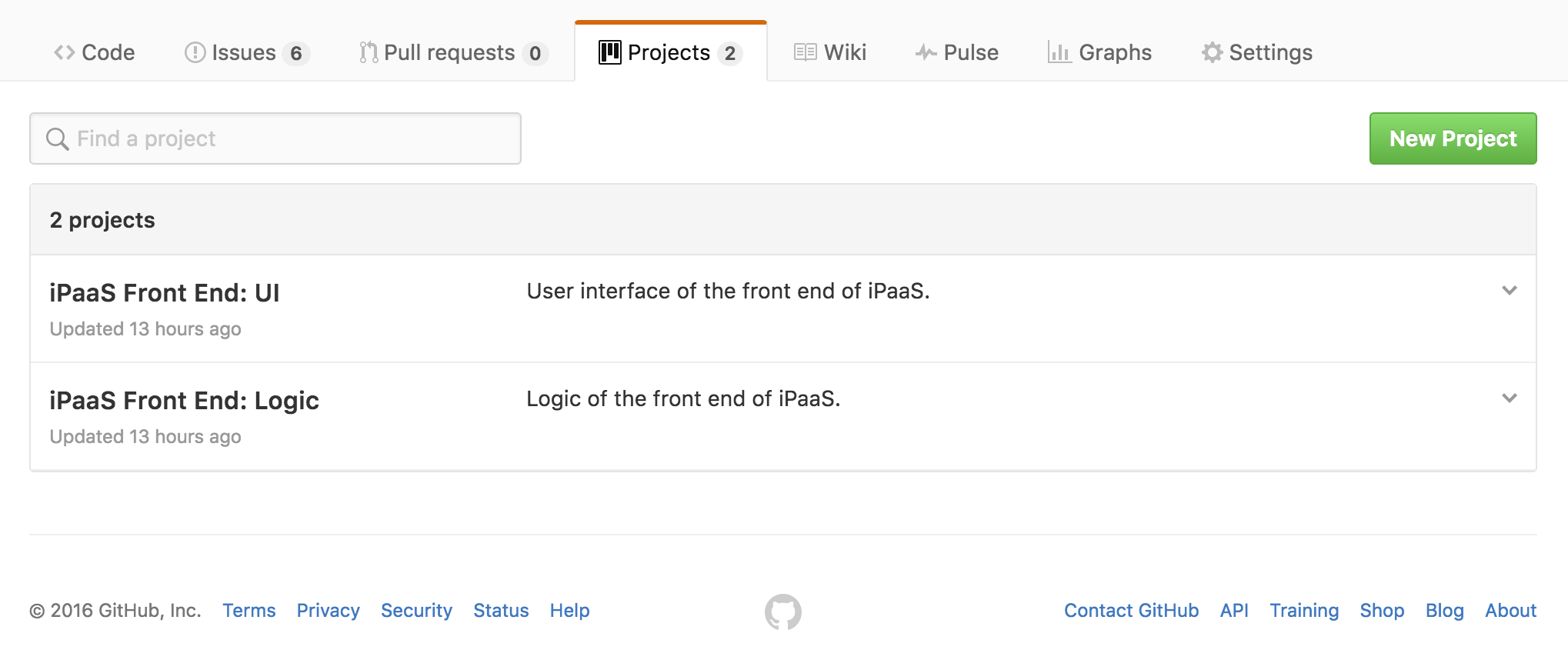 GitHub Projects Feature